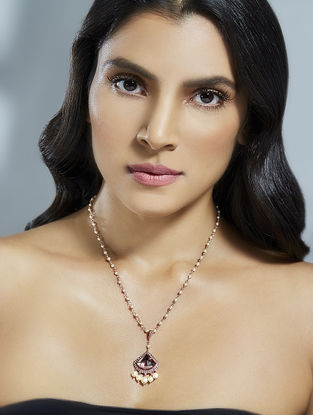 Confluence Crystals from Swarovski Suneet Varma Celestial Pink Necklace