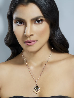 Confluence Crystals from Swarovski Suneet Varma Celestial Red Necklace