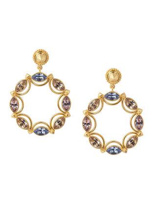 Confluence Crystals from Swarovski Amrapali Sunset Circular Earrings