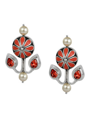 Confluence Crystals from Swarovski Amrapali Mughal Garden Flower Earring