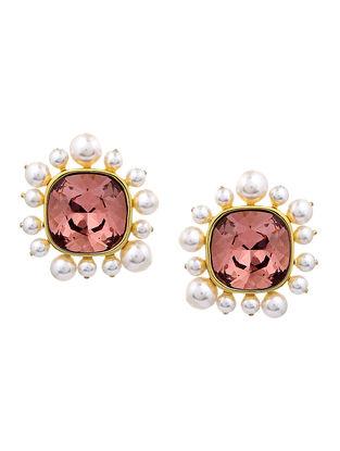 Confluence Crystals from Swarovski Isharya Desert Pearl Rose Studs