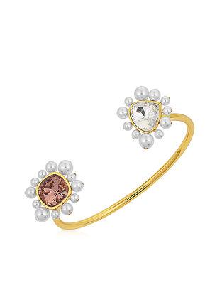 Confluence Crystals from Swarovski Isharya Desert Pearl Open Rose Cuff