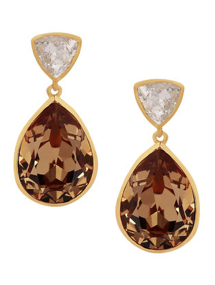 Confluence Crystals from Swarovski Isharya Classic Brilliance Champagne Earrings