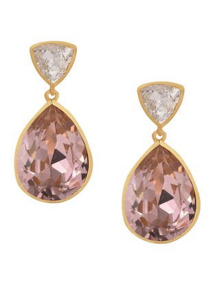 Confluence Crystals from Swarovski Isharya Classic Brilliance Pink Earrings