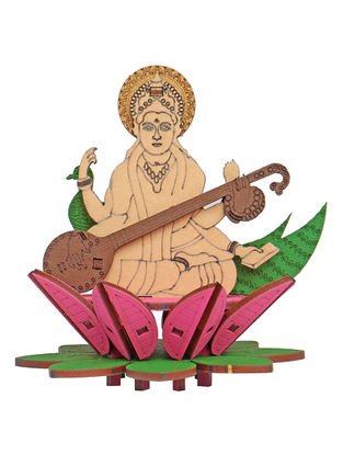 Goddess Saraswati DIY Puzzle in Wood