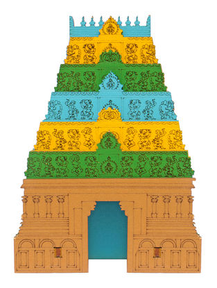 Gopuram DIY Puzzle in Wood