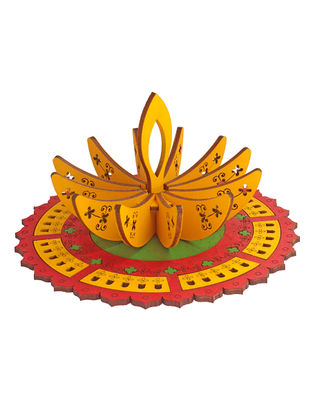 Rangoli Diya DIY Puzzle in Wood