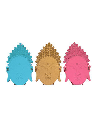 Lord Buddha Triad DIY Puzzle in Wood