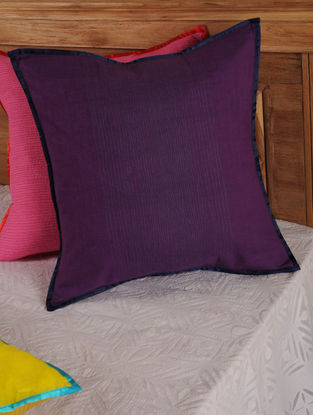 Hand Spun & Hand Woven Waves in Purple Cushion Cover 19in x 19in