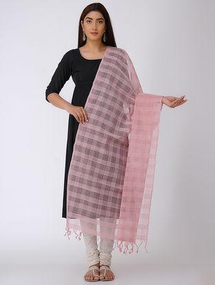 Pink Missing Checks Mangalgiri Cotton Dupatta