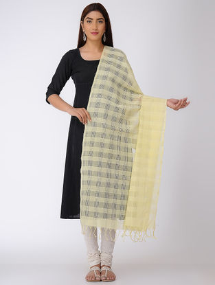 Cream Missing Checks Mangalgiri Cotton Dupatta