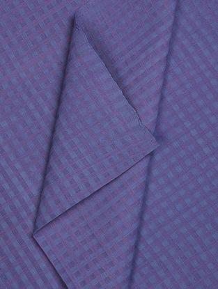 Purple Checkered Cotton Fabric