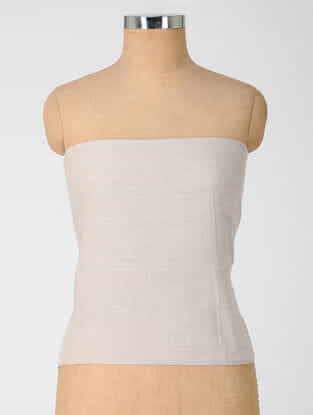 Ivory Natural-dyed Cotton Blouse Fabric