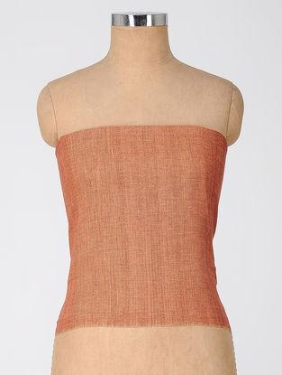 Orange Natural-dyed Cotton Blouse Fabric