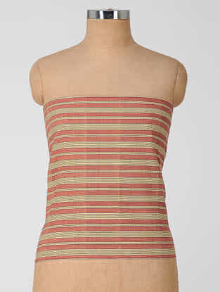 Red-Beige Natural-dyed Cotton Blouse Fabric