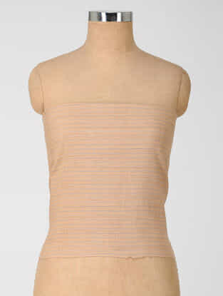 Beige Natural-dyed Cotton Blouse Fabric