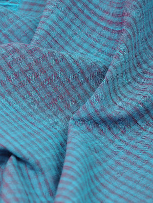Blue-Pink Cotton Fabric