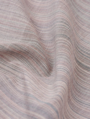 Brown-Ivory Pinstriped Cotton Fabric