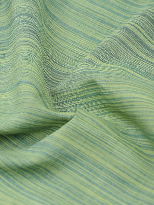Green Pinstriped Cotton Fabric