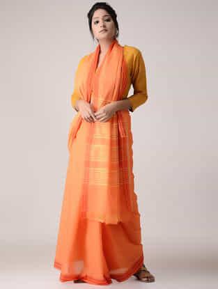 Orange-Yellow Cotton Saree