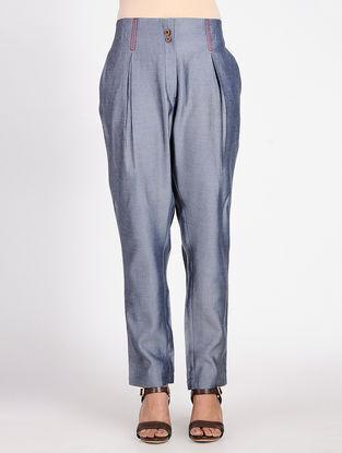 Blue Cotton Denim Pants