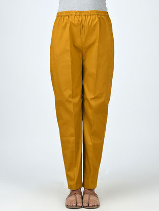 Yellow Elasticated Waist Cotton Pants