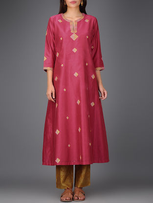 Pink Chanderi Kurta with Gota Work