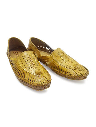 Tan Vegetable Tanned Leather Shoes for Men
