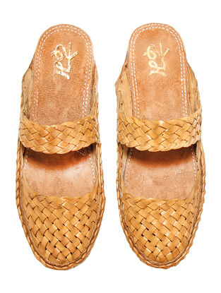 Tan Vegetable Leather Flats for Women
