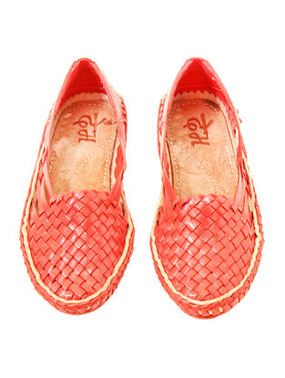 Red Leather Shoes for Women