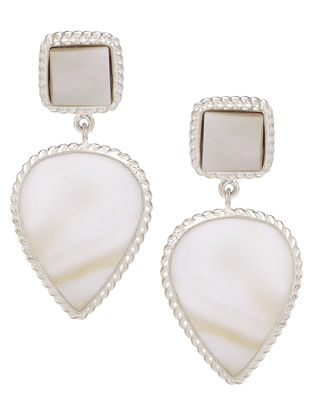 Ivory Mother of Pearl Silver Earrings