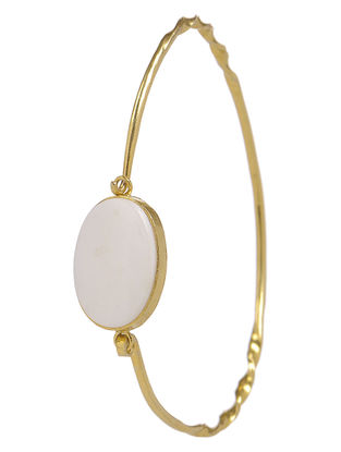 Classic Ivory Mother of Pearl Gold Tone Silver Bracelet