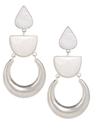 Classic Ivory Mother of Pearl Silver Earrings