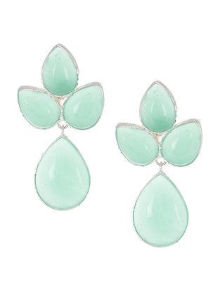 Aqua Chalcedony Silver Earrings