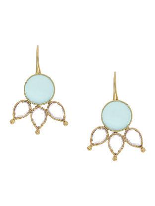 Aqua Chalcedony Gold-plated Silver Earrings
