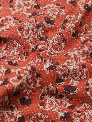 Red-Maroon Bagru-printed Cotton Fabric