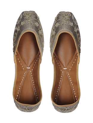 Silver-Gold Handcrafted Leather Juttis