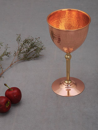 Handcrafted Copper Goblet (L: 4in, W:4in, H:7.2in)