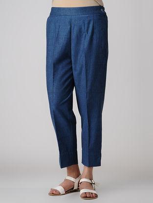 Indigo Elasticated Waist Khadi Cotton Pants