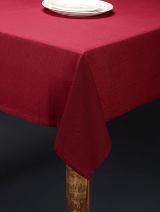 Pink Hand Woven Cotton Table Cover