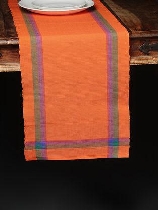 Orange Hand Woven Cotton Runner (71in x 13in)