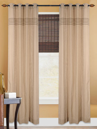 Brown Hand Woven Cotton Curtain