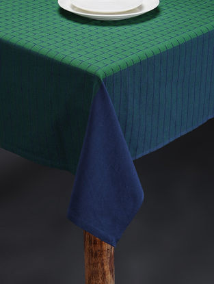 Green Hand Woven Cotton Table Cover