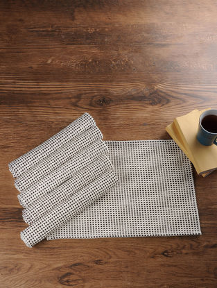 Brown Hand Woven Cotton Table Mats (Set of 6) (18in x 13in)