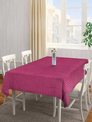 Multicolored Cotton 4 Seater Table Cover (61in x 61in)