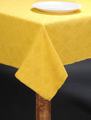 Yellow Cotton 6 Seater Table Cover (91in x 61in)