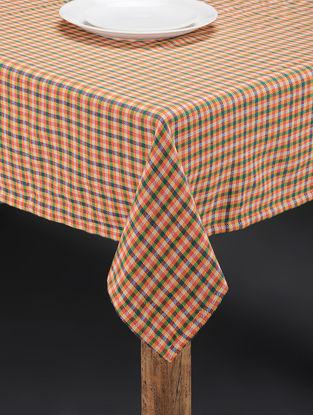 Multicolored Hand Woven Cotton Table Cover