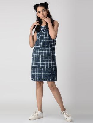 Indigo Dabu-printed Cotton Dress