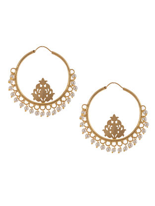 Classic Gold Plated Brass Earring with Pearls