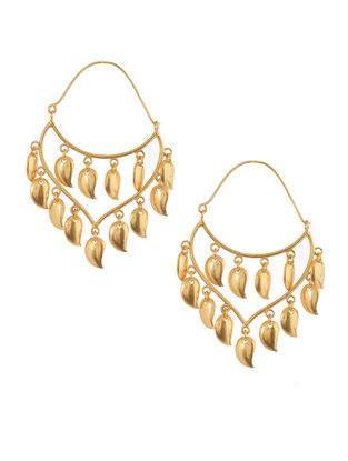 Classic Gold Plated Brass Earring
